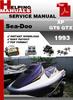 Thumbnail Sea-Doo XP GTS GTX 1993 Service Repair Manual Download