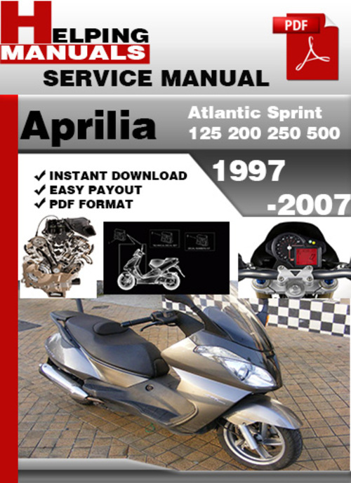 Aprilia Atlantic Sprint 125 200 250 500 1997