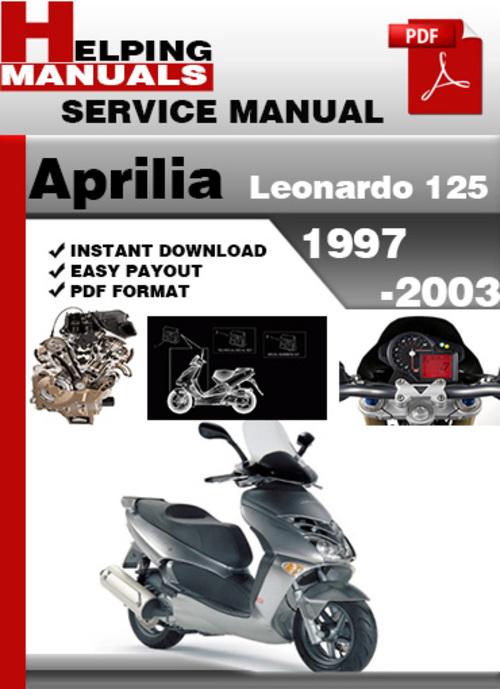 [GJFJ_338]  Aprilia Leonardo 125 1997-2003 Service Repair Manual Download - Tradebit | Aprilia Leonardo 125 Wiring Diagram |  | Tradebit