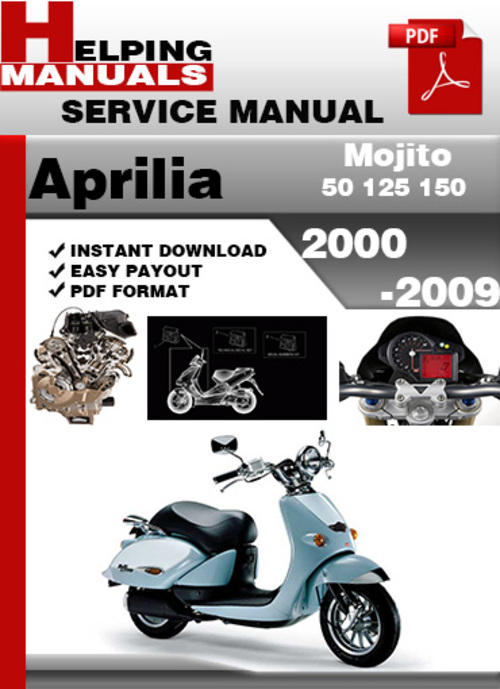 Aprilia mojito 50 125 150 2000 2009 service repair manual - Service a mojito ...