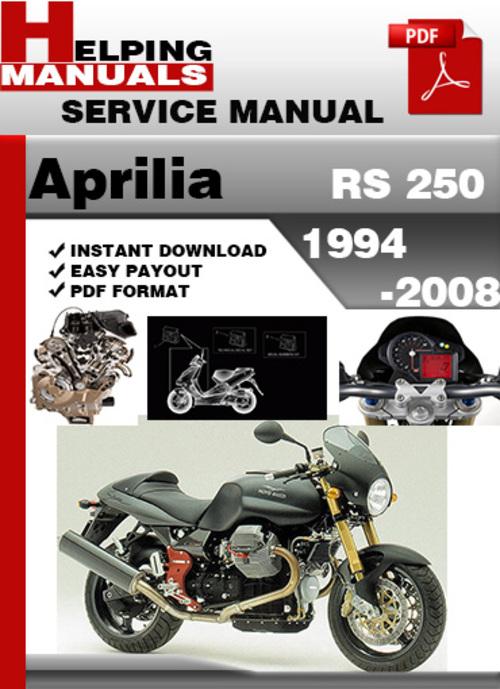 Pay for Aprilia RS 250 1994-2008 Service Repair Manual Download
