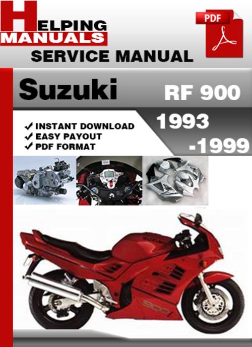 Suzuki Rf 900 1993 1999 Service Repair Manual Download Tradebit