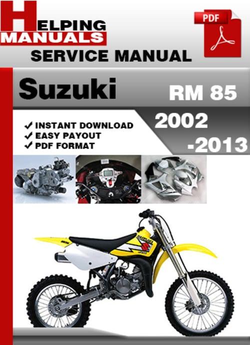 suzuki rm 85 2002 2013 service repair manual download. Black Bedroom Furniture Sets. Home Design Ideas