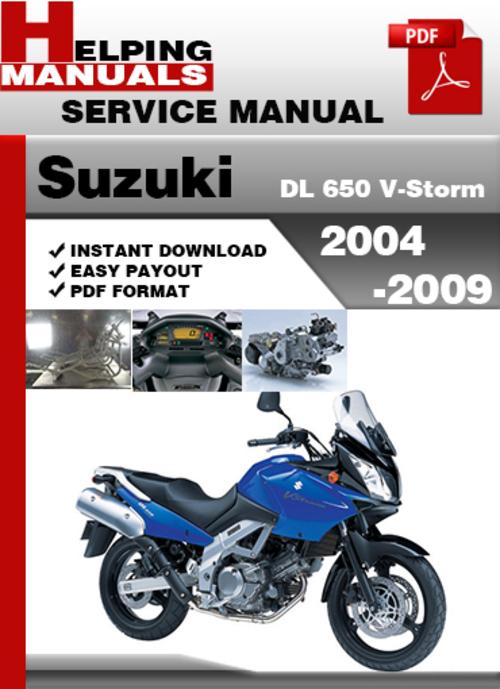 suzuki dl 650 v storm 2004 2009 service repair manual. Black Bedroom Furniture Sets. Home Design Ideas