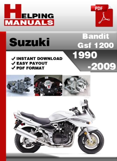 suzuki bandit gsf 1200 1990 2009 service repair manual download d rh tradebit com suzuki bandit gsf 1200 service manual suzuki gsf 1200 bandit service manual pdf