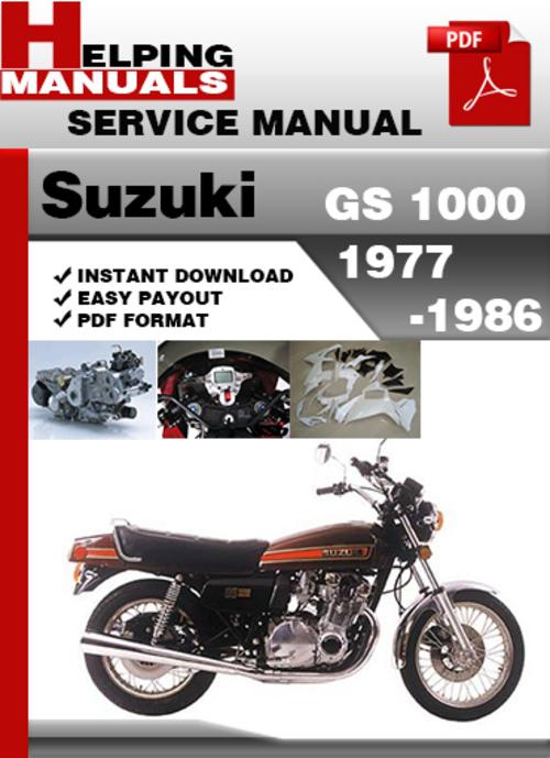 suzuki gs 1000 1977 1986 service repair manual download. Black Bedroom Furniture Sets. Home Design Ideas