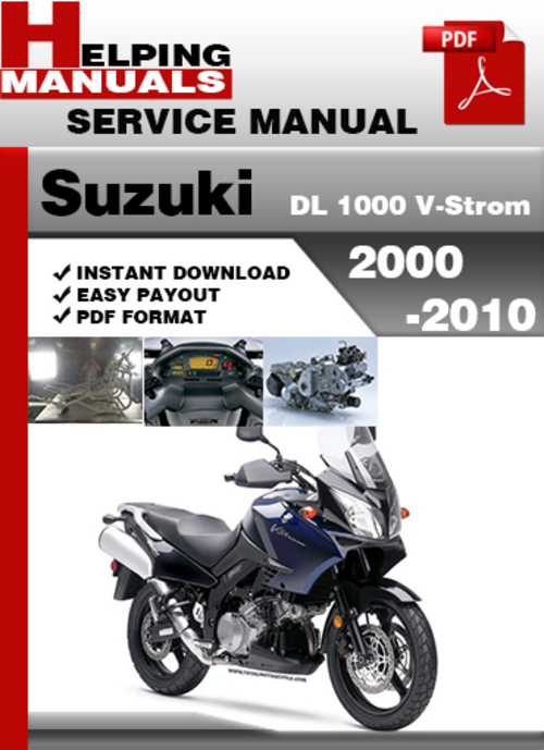suzuki dl 1000 v strom 2000 2010 service repair manual. Black Bedroom Furniture Sets. Home Design Ideas