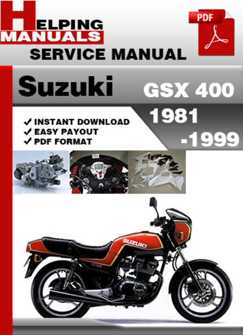 Pay for Suzuki GSX 400 1981-1999 Service Repair Manual Download