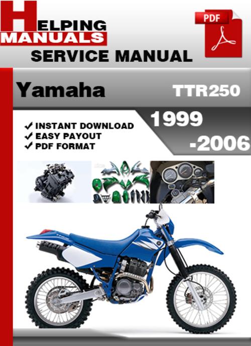 yamaha ttr250 factory repair manual 1995 2005 download. Black Bedroom Furniture Sets. Home Design Ideas