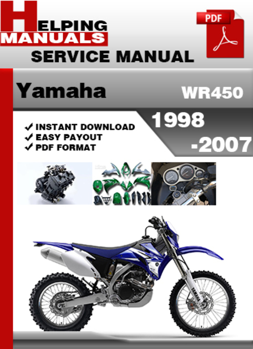 yamaha wr450 1998 2007 service repair manual download. Black Bedroom Furniture Sets. Home Design Ideas