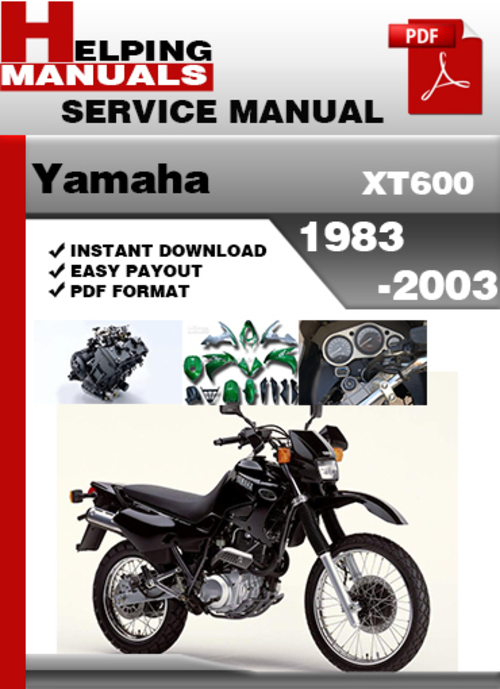 yamaha xt600 1983 2003 service repair manual download download ma rh tradebit com yamaha xt 600 1vj service manual yamaha xt 600 2kf service manual