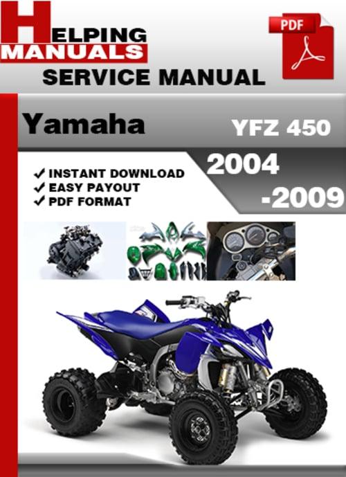 yamaha yfz 450 2004 2009 service repair manual download. Black Bedroom Furniture Sets. Home Design Ideas