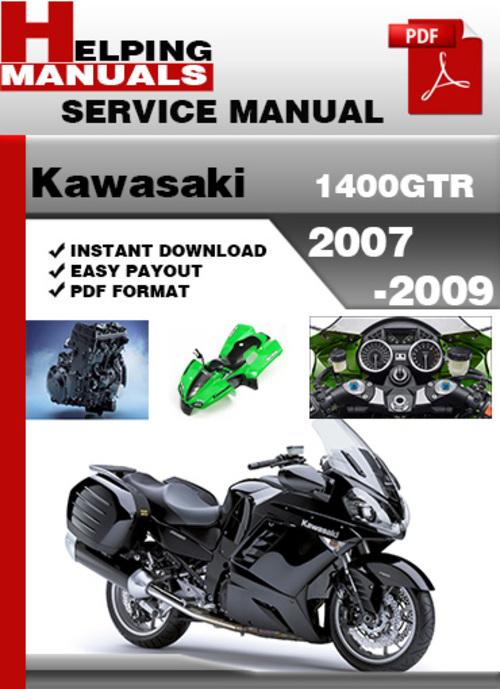 Pay for Kawasaki 1400GTR 2007-2009 Service Repair Manual Download