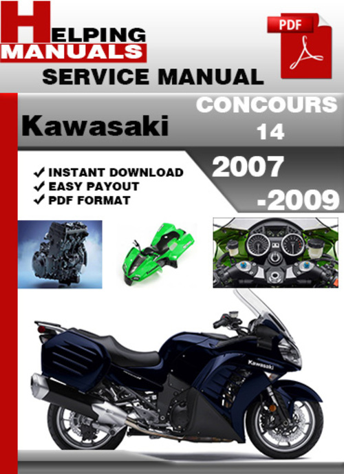kawasaki concours 14 2007 2009 service repair manual download dow rh tradebit com 2008 Concours 2009 Concours 14