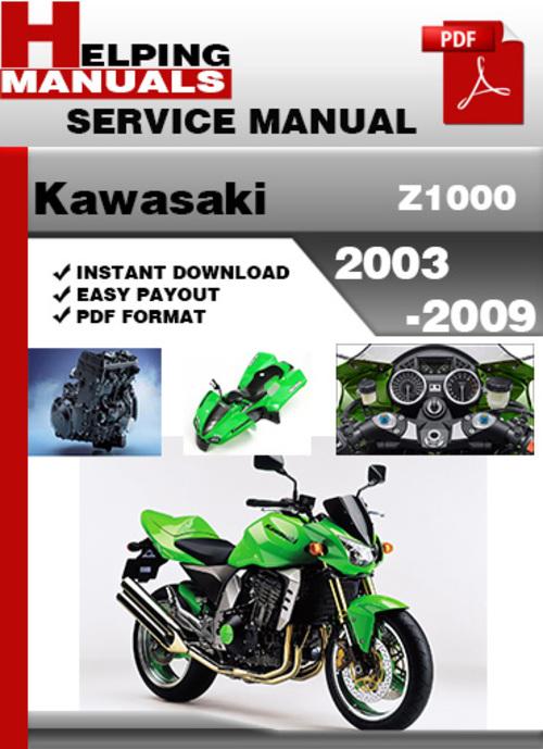 Kawasaki Z1000 2003-2009 Service Repair Manual Download ...