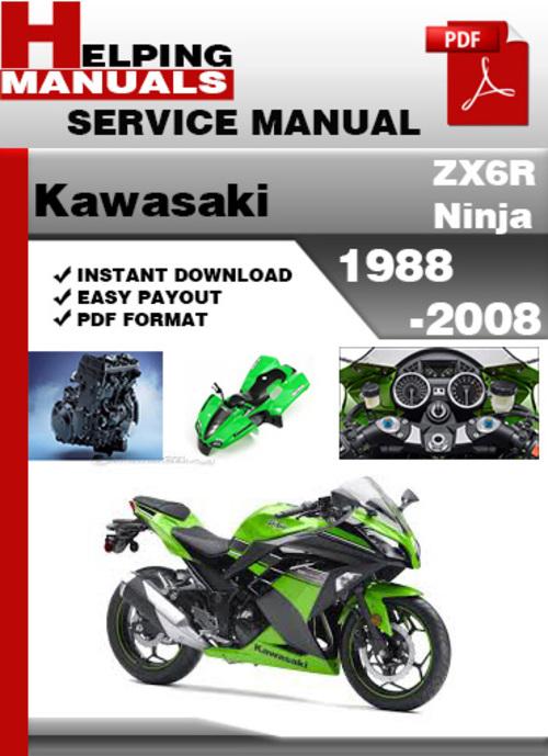2000 2002 kawasaki ninja zx6r service manual download 2001