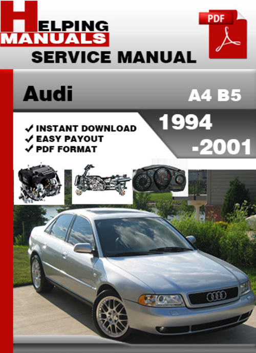 audi a4 b5 1994 2001 service repair manual download. Black Bedroom Furniture Sets. Home Design Ideas