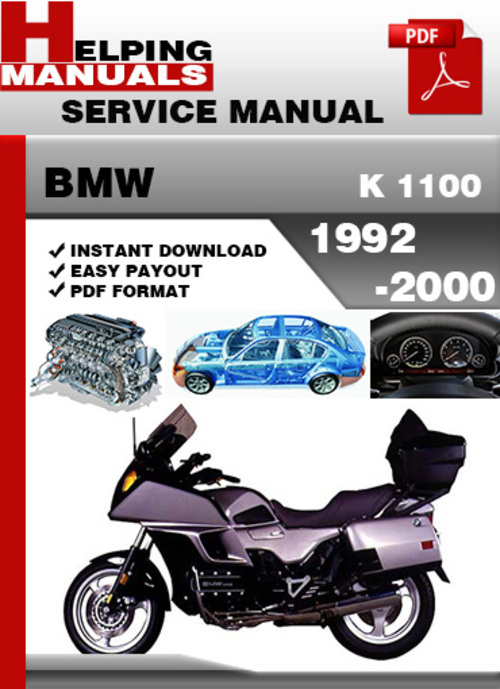 Pay for BMW K 1100 1992-2000 Service Repair Manual Download