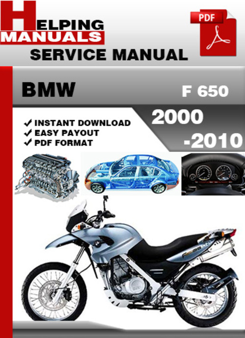 Pay for BMW F 650 2000-2010 Service Repair Manual Download