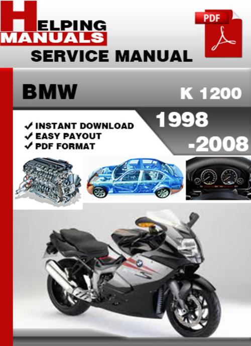 bmw k 1200 1998 2008 service repair manual download. Black Bedroom Furniture Sets. Home Design Ideas