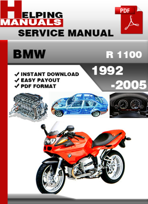 Pay for BMW R 1100 1992-2005 Service Repair Manual Download