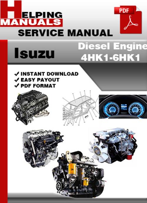 Pay for Isuzu Diesel Engine 4HK1-6HK1 Service Repair Manual Download