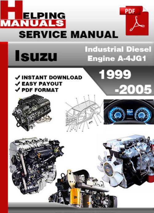 isuzu industrial diesel engine a 4jg1 1999 2005 service. Black Bedroom Furniture Sets. Home Design Ideas