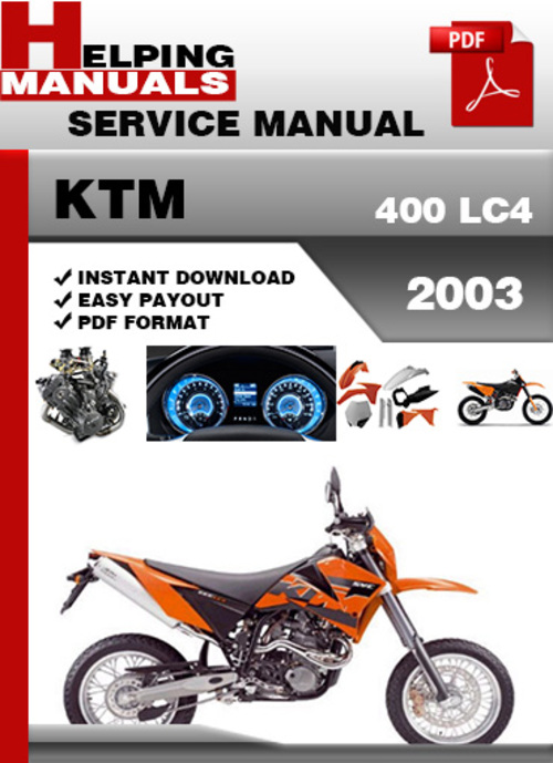 ktm 400 lc4 2003 service repair manual download download manuals rh tradebit com KTM 200 2001 KTM 400 EXC Review