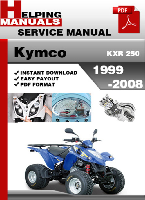 kymco kxr 250 2005 repair service manual