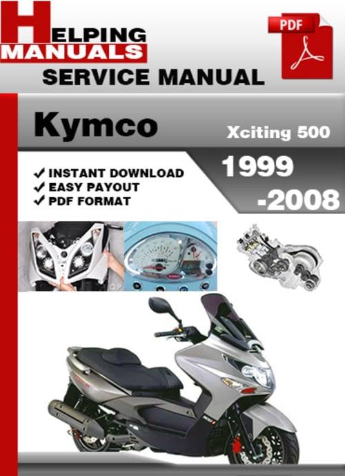 kymco xciting 500 workshop service repair manual