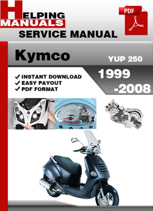 kymco yup 250 1999 2008 service repair manual download. Black Bedroom Furniture Sets. Home Design Ideas