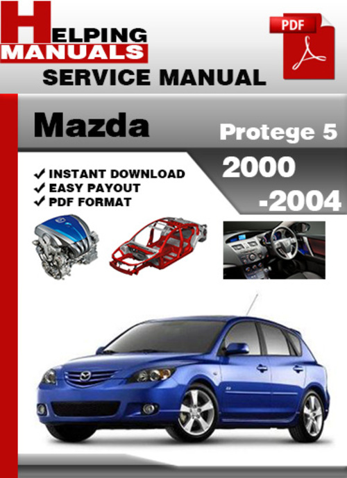 mazda protege 5 2000 2004 service repair manual download. Black Bedroom Furniture Sets. Home Design Ideas