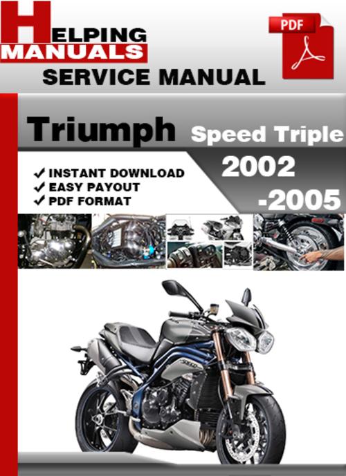 triumph speed triple 2002 2005 service repair manual. Black Bedroom Furniture Sets. Home Design Ideas
