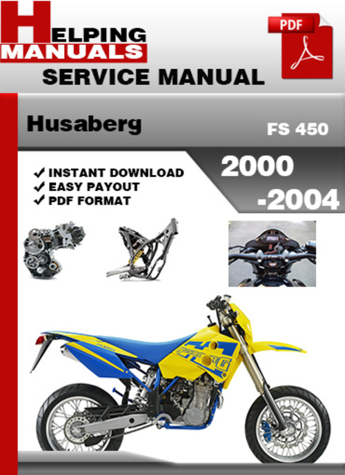 Pay for Husaberg FS 450 2000-2004 Service Repair Manual Download