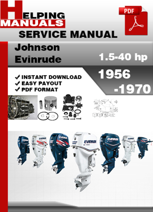 johnson evinrude 1956 1970 outboard service repair manual. Black Bedroom Furniture Sets. Home Design Ideas