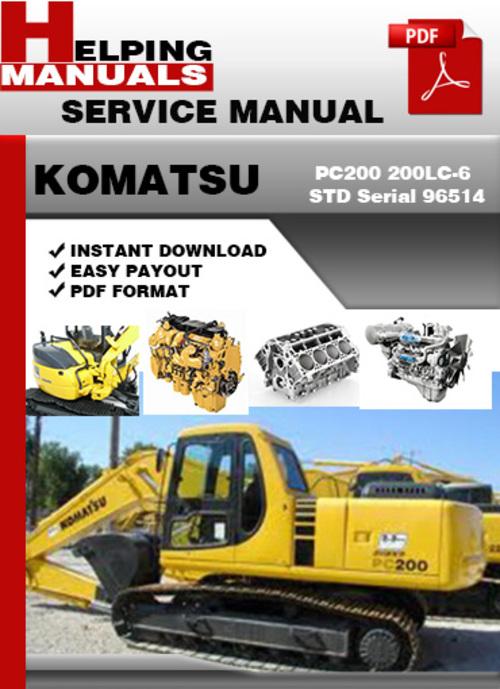 komatsu pc200 6 service manual pdf