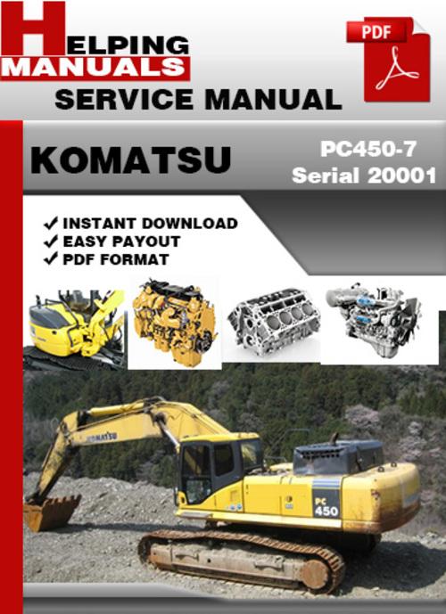 komatsu pc450 7 serial 20001 and up shop service repair. Black Bedroom Furniture Sets. Home Design Ideas