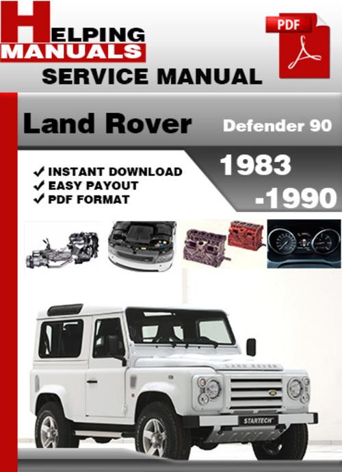 land rover defender 90 1983 1990 service repair manual download d Land Rover Defender 127 land rover defender 90 owners manual
