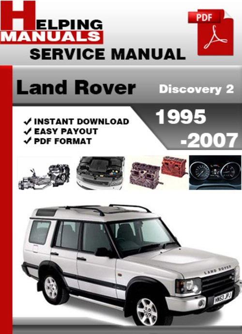 Free Land Rover Discovery 2 1995-2007 Service Repair Manual Download Download thumbnail