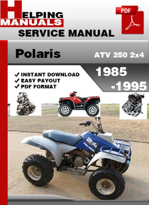 polaris atv 250 2x4 1985 1995 service repair manual