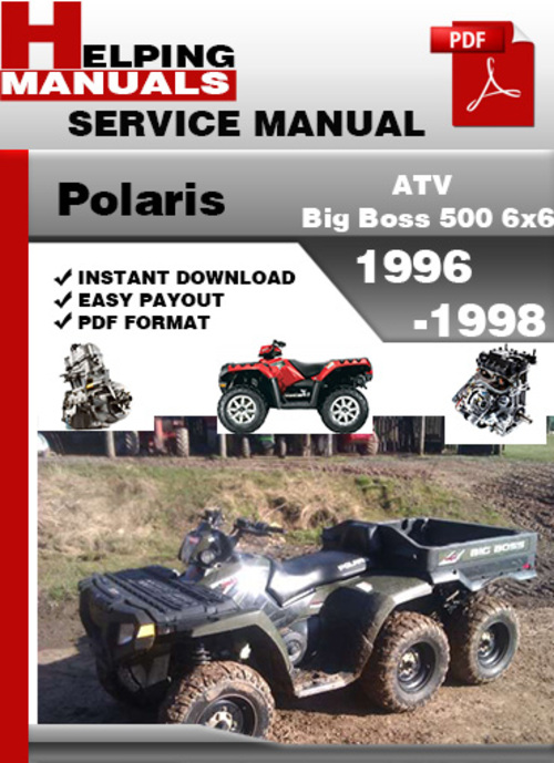 polaris atv big boss 500 6x6 1996 1998 service repair manual downlo rh tradebit com polaris big boss 400l 6x6 manual polaris big boss 400l 6x6 manual