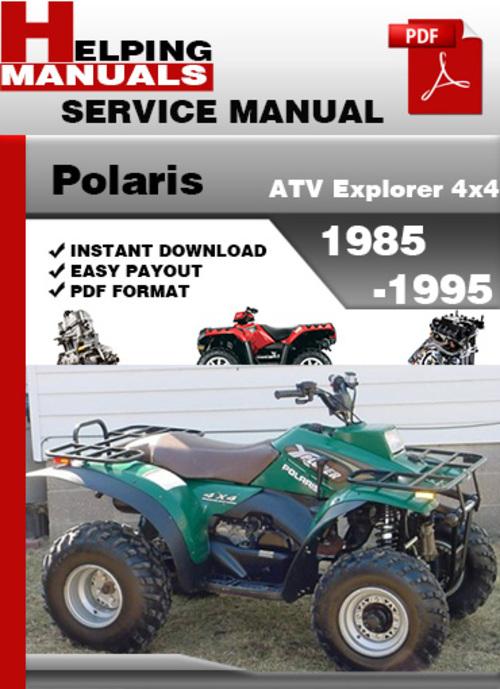Polaris best repair manual download free polaris atv explorer 44 1985 1995 service repair manual download download sciox Images