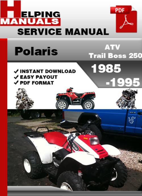 polaris trail boss 250 1990 factory service repair manual