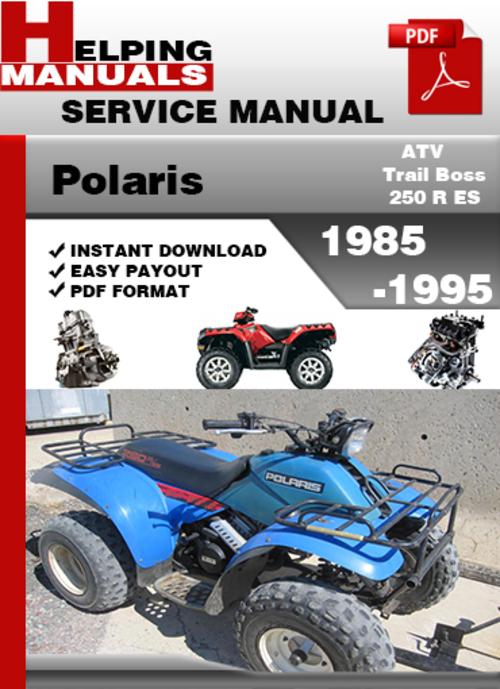 polaris atv trail boss 250 r es 1985 1995 service repair manual dow rh tradebit com 1991 polaris trail boss 250 manual pdf 250 Boss Polari Trail 2 Stroke