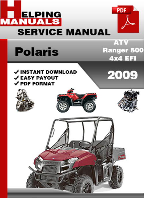 Polaris Atv Ranger 500 4x4 Efi 2009 Service Repair Manual