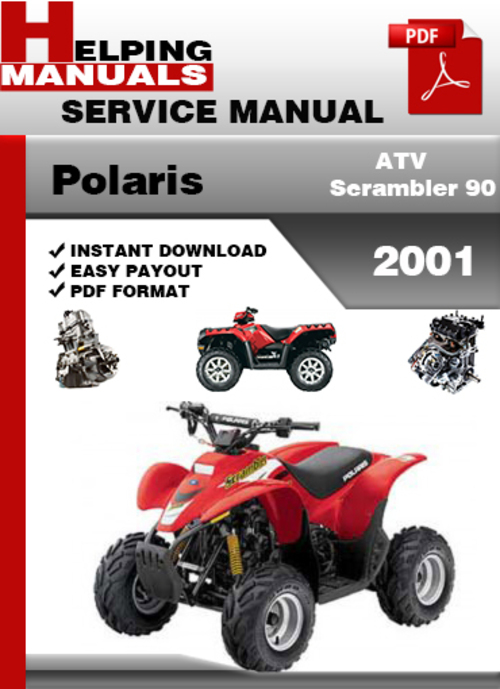 polaris atv scrambler 90 2001 service repair manual. Black Bedroom Furniture Sets. Home Design Ideas