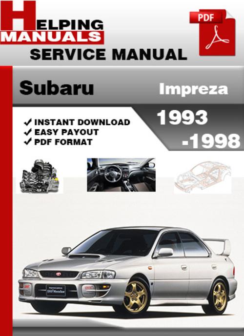subaru impreza 1993 1998 service repair manual download download rh tradebit com Subaru Crosstrek Subaru Crosstrek