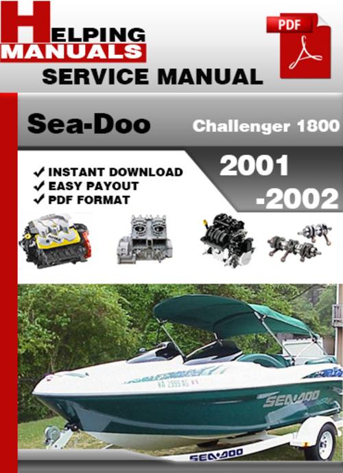 sea doo challenger 1800 2001 2002 service repair manual down down rh tradebit com