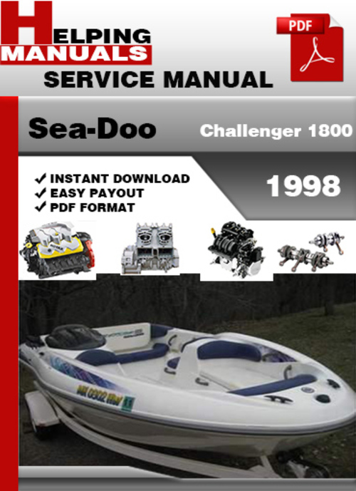 sea doo challenger 1800 1998 service repair manual download downl rh tradebit com 1998 Seadoo Challenger Boats 1998 sea doo sportster 1800 service manual