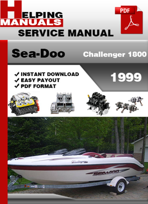 sea doo challenger 1800 1999 service repair manual download downl rh tradebit com seadoo challenger 1800 repair manual 1997 seadoo challenger 1800 service manual